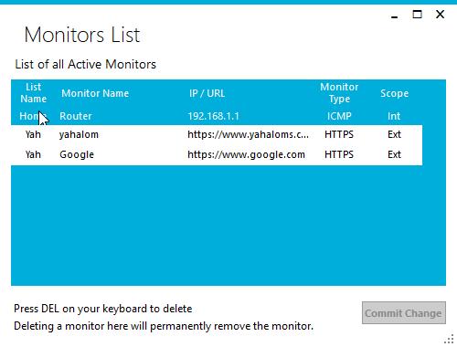 MonitorsList